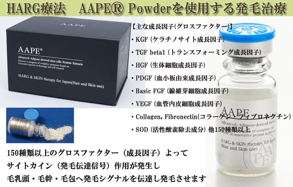 HARG療法 AAPE®-Powderを使用する発毛治療
